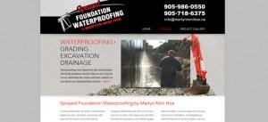 Sprayed Foundation Waterproofing