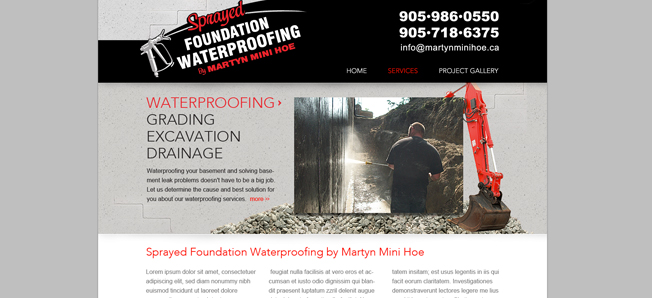 Sprayed Foundation Waterproofing